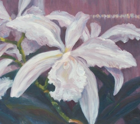 Laura McMillan orchid paintings