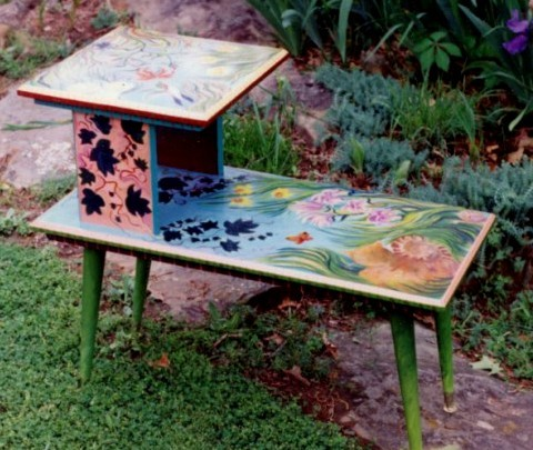 Laura McMillan painted furniture
