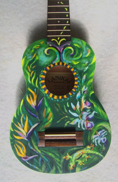Laura McMillan painted ukelele